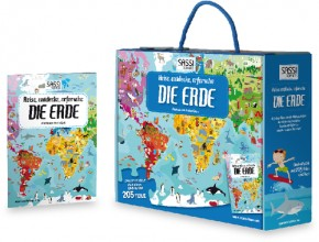 Bodenpuzzle Die Erde 205T + Buch