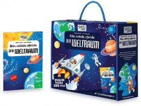 Bodenpuzzle Der Weltraum 205T + Buch