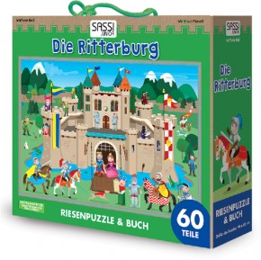Puzzle Die Ritterburg 60 Teile + Buch