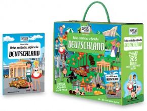 Kinderpuzzle Deutschland 205T + Buch