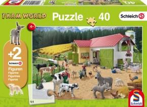 Schleich Puzzle Ein Tag auf dem Bauernhof 40T