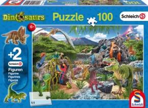 Schleich Puzzle Im Reich der Dinosaurier 100T