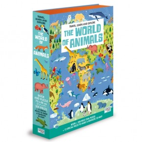 Puzzle Die Welt der Tiere 200 Teile + 3D Teile oval