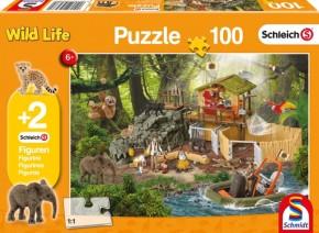 Schleich Puzzle Forschungsstation 100T B-Ware OVP