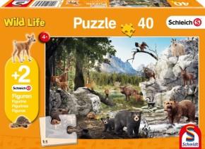Schleich Puzzle Die Tiere des Waldes 40T