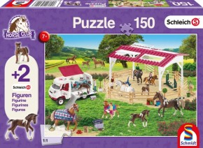 Schleich Puzzle Reitschule Tierärztin 150T B-Ware OVP