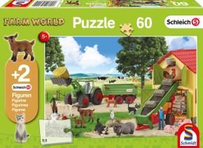 Schleich® Puzzle Heueinfahrt auf dem Bauernhof 60T B-Ware OVP