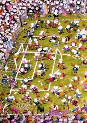 Heye Puzzle Crazy Football Triangular 1000 Teile