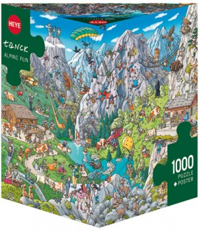 Heye Puzzle Alpine Fun Triangular 1000 T.