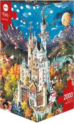 Heye Puzzle Bavaria Schloss Neuschwanstein Triangular 2000 Teile