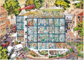 Heye Puzzle Emergency Room Notaufnahme Triangular 2000 Teile