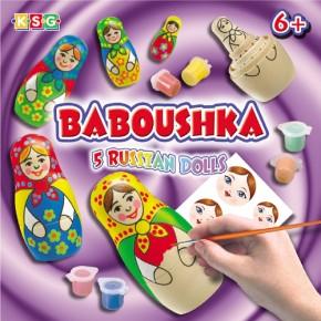 Baboushka Russian Dolls Holzpuppen Mal-Set