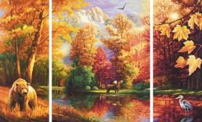 Indian Summer Triptychon MnZ 50x80cm