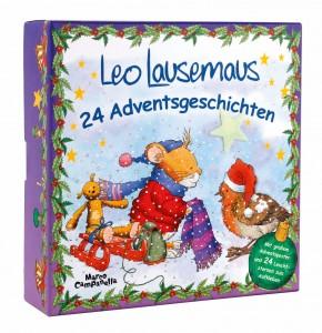 Adventskalender Leo Lausemaus mit Leuchtsternen
