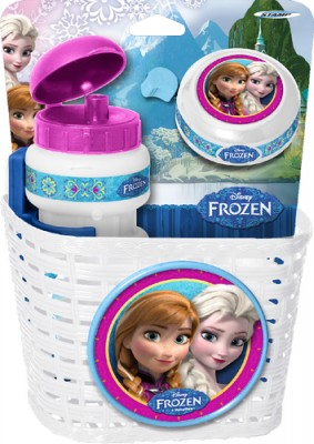 Disney Die Eiskönigin Korb-Trinkflasche-Klingel-Set