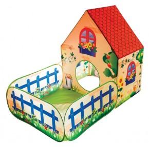 Outdoor Active Pop-up Spielhaus mit Garten-Bällebad (o. Bälle)