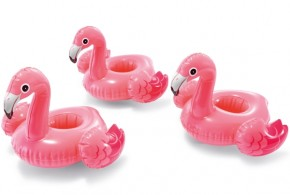 INTEX Poolbar Floating Flamingo 3er-Set 33x25 cm