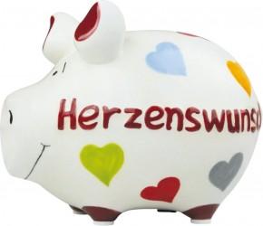 Sparschwein Herzenswunsch 14x9x9 cm