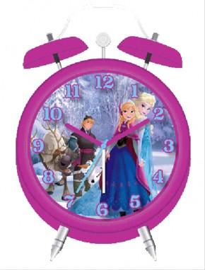 Disney FROZEN Die Eiskönigin Quarz-Wecker pinkrosa B-Ware OVP