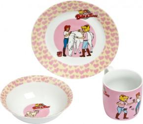 Porzellan Frühstücks-Set Bibi + Tina 3tlg 3+j