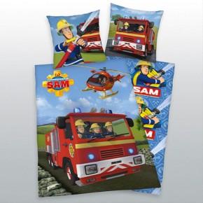 Feuerwehrmann Sam Bettwäsche 135x200 80x80 cm