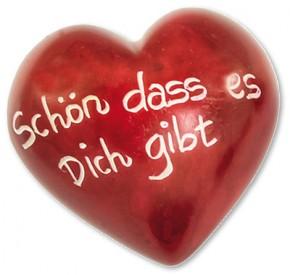 Schön, dass es dich gibt Romantik-Herz Deko-Handschmeichler