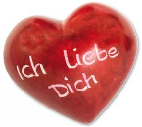 Ich liebe Dich Romantik-Herz Deko-Handschmeichler