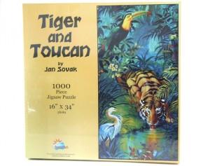 Puzzle 1000 Tiger und Tukan Tierpuzzle