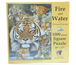 Puzzle 1000 Fire and Water Tierpuzzle