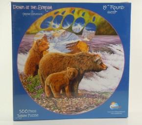 Puzzle 500 Bären am Fluss Rundpuzzle