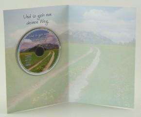 Grusskarte zur Konfirmation mit Mini-CD Und so geh nun deinen Weg