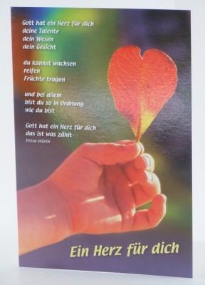 Grusskarte zur Konfirmation Gott hat ein Herz für dich