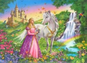 Ravensburger Puzzle Prinzessin mit Pferd 200 ab 8 J. B-Ware OVP