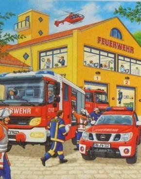 Ravensburger Puzzle Feuerwehreinsatz 3 x 49 B-Ware OVP