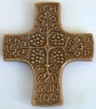 Bronzekreuz Ich bin der Weinstock